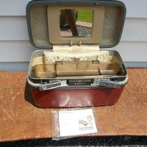 Vintage Samsonite Train Case Jewelry Cosmetic Hard